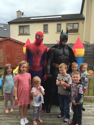 batman spiderman birthday party
